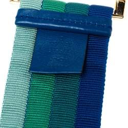Gucci Multicolor Canvas Colorblock Square Buckle Belt 90CM