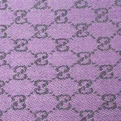 Gucci Lilac Lame GG Jacquard Wool Stole