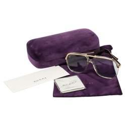 Gucci Gold Tone/ Blue GG0200S Pilot Sunglasses