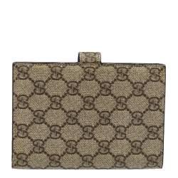 Gucci Beige GG Supreme Canvas Passport Cover