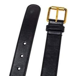Gucci Black Leather Horsebit Belt 95 CM