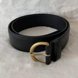 Gucci Black Leather Buckle Belt