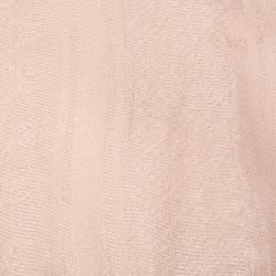 Gucci Pink Logo Monogram Lurex Wool & Silk Square Scarf