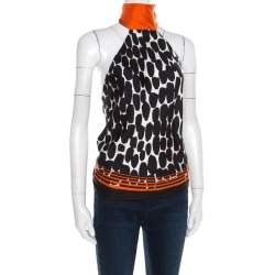 Gucci Multicolor Animal Printed Silk Backless Halter Top ( One Size )