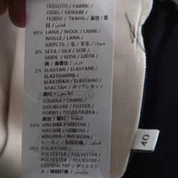 Gucci Navy Blue Wool & Silk Blend Striped Side Seam Snap Button Detail Sweatpants S