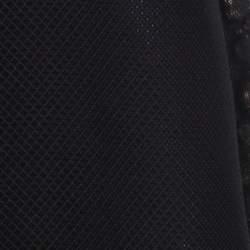 Gucci Black Cotton Silk Blend Embellished Sleeveless Dress S