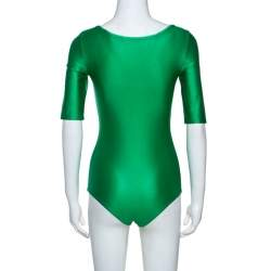 Gucci Green Shiny Jersey Bodysuit S