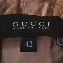 Gucci Pink Python Leather Skirt M