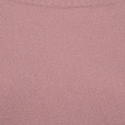 Gucci Pink Cashmere Round Neck Sweater L