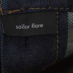 Gucci Indigo Denim Medium Wash Sailor Flare Jeans XS
