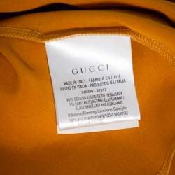Gucci Gold Silk Oversized Tank Top S