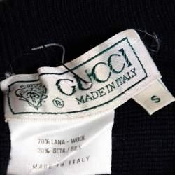 Gucci Vintage Navy blue Wool & Silk Mini Skirt S