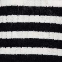 Gucci Monochrome Striped Knit Floral Embroidered Applique Sweater S