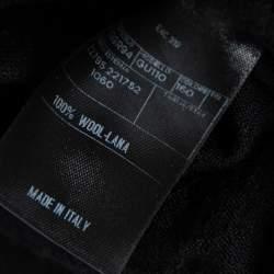 Gucci Black Wool Shoulder Stripe Detail Diamond Knitted Sweater XS
