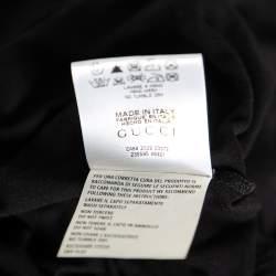 Gucci Black Jersey Web Stripe Buckle Sleeveless Top L