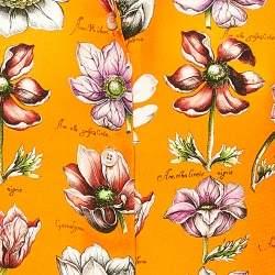 Gucci Orange Floral Printed Silk Oversized Collar Shirt M