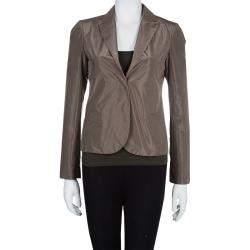 Gucci Brown Silk Blazer S