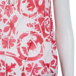 Gucci White Cotton Floral Print Sleeveless Tank Top M