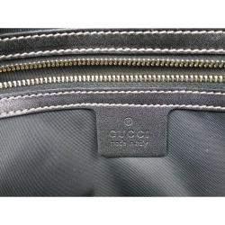 Gucci Black Coated Fabric Dialux Britt Boston Bag
