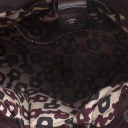 Gucci Dark Brown Guccissima Leather Medium Pelham Studded Hobo