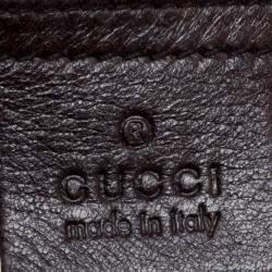 Gucci Dark Brown Guccissima Leather Medium Pelham Studded Hobo