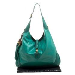 Gucci Green Leather Large New Jackie Shoulder Bag