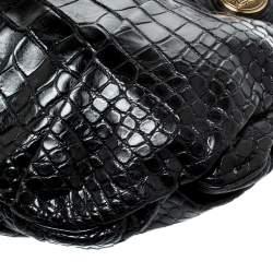 Gucci Black Crocodile Leather Hysteria Tote