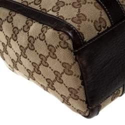 Gucci Beige/Ebony GG Canvas Small Joy Boston Bag