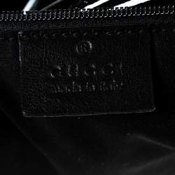 Gucci Black Patent Leather D Ring Hobo
