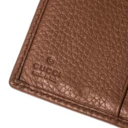 Gucci Brown Leather Trifold Wallet