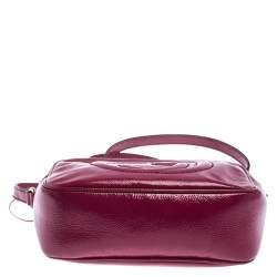 Gucci Magenta Patent Leather Small Soho Disco Shoulder Bag