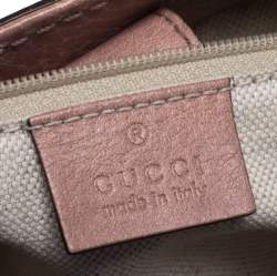 Gucci Rose Pink Guccissima Leather Sukey Tote
