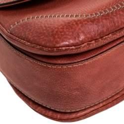 Gucci Rust Leather Medium Tassel New Bamboo Top Handle Bag