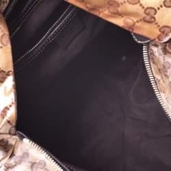 Gucci Beige GG Crystal Canvas Hysteria Hobo