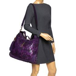 Gucci Purple Python and Suede Large New Jackie Hobo