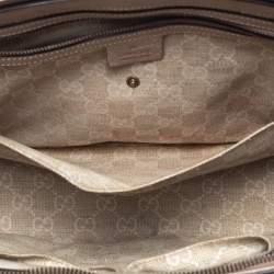 Gucci Metallic Beige Leather Bright Bit Tote