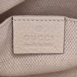 Gucci Ivory Calfskin Leather Mini Soho Chain Shoulder Bag