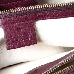 Gucci Burgundy Leather Medium Bamboo Tote