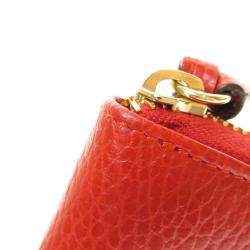Gucci Red Leather Swing Zip-Around Wallet