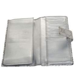 Gucci Silver Guccissima Leather Interlocking G Continental Wallet