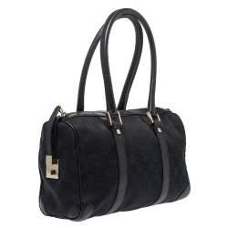 Gucci Black GG Canvas and Leather Small Joy Boston Bag