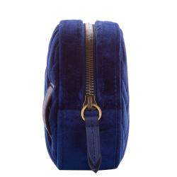 Gucci Blue Velvet GG Marmont Belt Bag