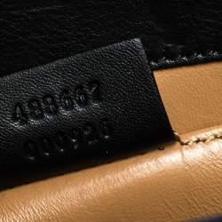 Gucci Black Shine Alligator Mini Thiara Bamboo Top Handle Bag