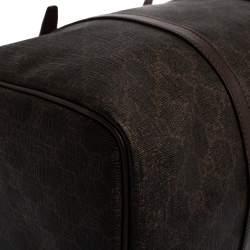 Gucci Dark Brown GG Supreme Canvas and Leather Medium Joy Boston Bag