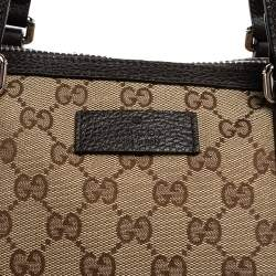 Gucci Beige GG Canvas and Leather Weekender Tote