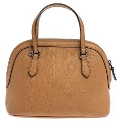 Gucci Tan Leather Mini Dome Satchel