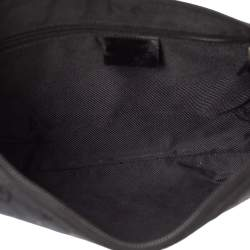 Gucci Black GG Canvas and Patent Leather Vintage Hobo