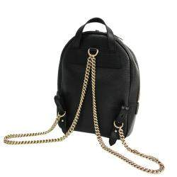 Gucci Black Leather Soho Chain Backpack