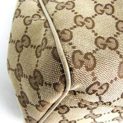 Gucci Beige/Brown GG Canvas Sukey Tote Bag