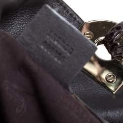 Gucci Dark Brown Suede and Python Medium Babouska Indy Hobo